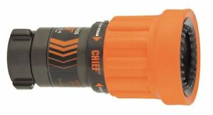 Elkhart Brass Fire Hose Nozzle 1 1 2 In Orange Anodized 4000 14 1 Each