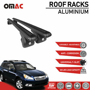 Roof Rack Cross Bars Carrier Rails Roof Bar Black For Subaru Outback 2010 2014