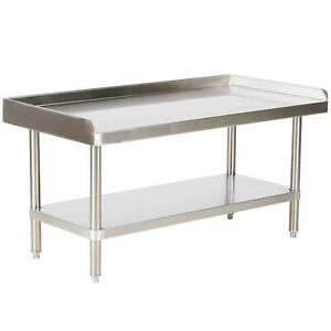 Commercial 24 Stainless Steel Equipment Griddle Stand Nsf
