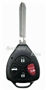 Replacement Remote Keyless Entry Key Fob Fits Toyota Corolla Camry Avalon Solara