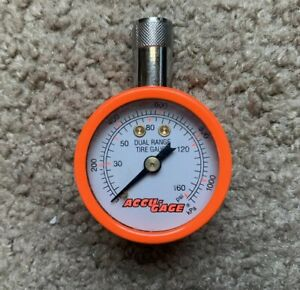 Accu Gage Tire Pressure Gauge Neon Colored Nice