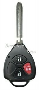 Replacement Remote Keyless Entry Key For 2007 2008 2009 2010 2011 Toyota Camry