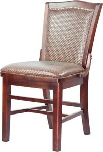 Restaurant Wooden Chair With Upholstered Seat And Back Commercial Grade