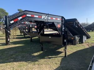 24ft Hd Tilt Gn Trailer 7k Dexter Axles Single Wheel No Cdl Required