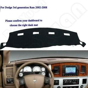 For Fits 2002 2005 Dodge Ram 1500 2500 3500 Dash Cover Mat Dashboard Pad Black