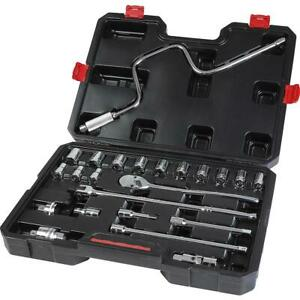 Craftsman Metric 23 Piece 1 2 Inch Drive Ratchet And Socket Set W Carrying Case