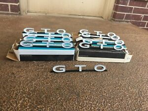 1964 1965 1966 Pontiac Gto Grill Grille Emblem Nos New In Box