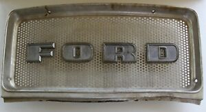 Original Vintage Ford Tractor Front Nose Grill Hood Grill Screen Logo C5nn8a163