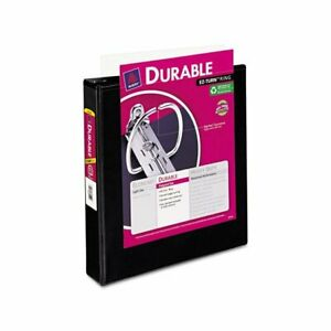 Avery Black Vinyl Ez turn Ring View 1 5 inch Capacity Binders pack Of 12