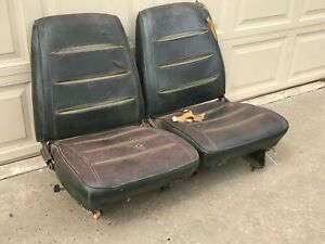 1968 1969 Mopar B Body Low Back Bucket Seats With Tracks Pair Nice