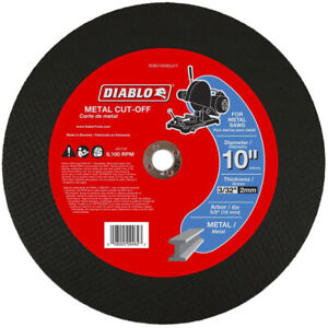 Cut Off Wheels 10 In Metal Saw Disc 5 pack For Cutting Cast Iron Stainless