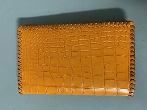 Oil Field 100 Real Alligator Leather Pipe Tally Book Cover 8 75 X 4 Mm