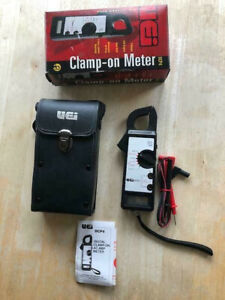 vintage Uei Dcp4 Digital Clamp Meter Volt Amp With Case Leads New Condition