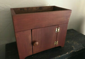 Vintage Style Dry Sink Wood Planter Primitive Country Decor Doll Furniture Toy