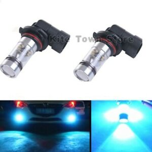 Pair 100w Led Fog Lights For Acura Tl 2002 2003 2004 2005 2006 8000k Ice Blue
