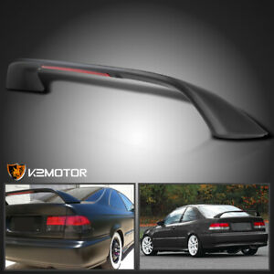 Fits Honda 1996 2000 Civic Matte Black Tr Rear Spoiler Trunk Wing W Led Brake