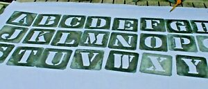 Vintage Metal Stencils 1940 50s Letters And Numbers B 2283