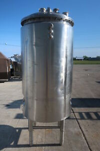 Dci 1000l 115psi Stainless Vertical Jacketed Pressure Vessel Tank