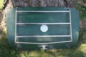 Vintage Original Mg Rear Trunk Lid W Chrome Rack Handle Hinge And Emblem Nice