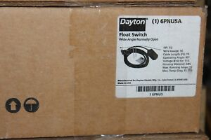 Dayton Float Switch 6pnu5a Wide Angle Normally Open New In Box