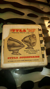 Styla M1 Anti Vibration Mirror Vintage British England Brittain Car Parts Nos