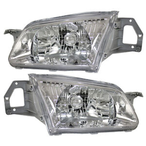 99 00 Mazda 323 Protege Set Of Headlights