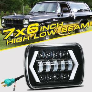 1pc 7x6 5x7 Dot Led Headlight Drl For Chevrolet Jeep Cherokee Xj Wrangler Yj
