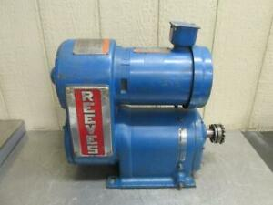 Reliance Reeves Drive Size 0112 Variable Speed 11:1 Ratio 42.3 - 423 RPM 34 HP