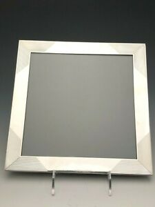 Cartier Sterling Silver Picture Frame 6 75 X 8 75 Wood Back Gently Used