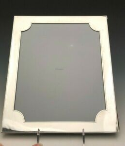 Vintage Cartier Sterling Silver Picture Frame 8 X 10 Wood Back Gently Used