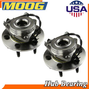 Moog New Front Wheel Hub Bearings Pair For Chevrolet Silverado 1500 2007 13 Awd