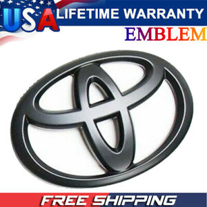 Matte Black Front Grille Emblem For 2007 2018 Toyota Tundra Sequoia
