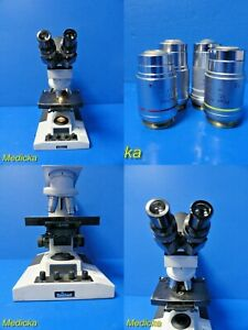 Reichert Microstar Iv Series Model 410 Microscope W Color Coded Objective 18029
