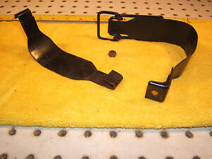 Mercedes R107 Sl Slc Rear Trunk Battery Box Metal Locking 1 Set Of 2 Straps Only