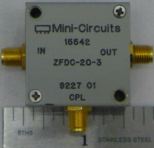 Mini circuits Zfdc 20 3 75 Directional Coupler 10 250 Mhz 75