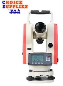 New Laser Digital Theodolite 2 Seconds Accuracy With Dual Keyboard Ip55 Rating