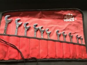 Mac 12pc 4 Way Angle Head Open End Wrench Set 3 8 To 1 Nice