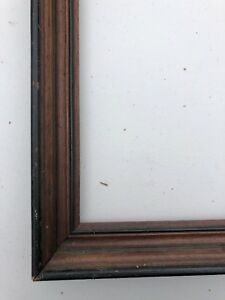Antique Victorian Mahogany And Black Paint Frame