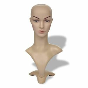 Female Mannequin Head Realistic Form Wig Hat Jewelry Shop Window Display Tf V7j3