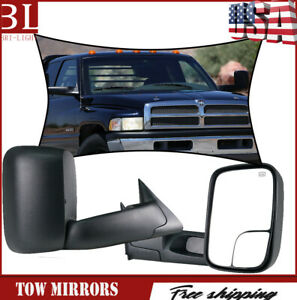 L r For 1998 2001 Dodge Ram 1500 2500 3500 Power heated Tow Mirrors Pair