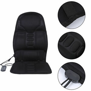 Full Body Massager Seat Cushion Pad Heated Electric Car Back Neck Lumbar Gift