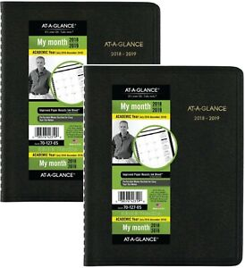 Academic Monthly Planner July 2018 December 2019 6 7 8 X 8 3 4 Black 2 Pa