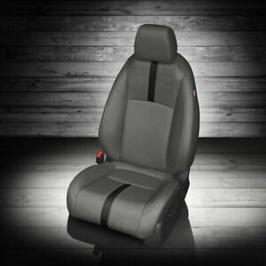 Katzkin Cool Grey Repla Leather Int Seat Cvrs Fit 2016 2019 Honda Civic Sedan Lx