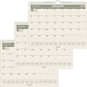 Monthly Wall Calendar Recycled Jan 2019 Dec 2019 14 7 8 X 11 7 8 3 Pack