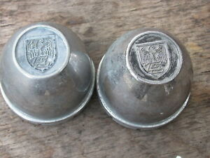 Centerline Wheel Center Cap Bullet Vintage Shield Engraved Used C 70 3 1 4 Pair