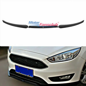 Front Bumper Spoiler Lip Protector Cover 3pc For Ford Focus Rs St 2016 2017 2018