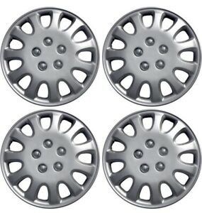 Hubcaps 14 Inch Wheel Covers Hub Caps Silver Set Of 4 Oxgord New