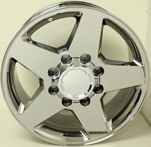 2001 2010 Chevy Silverado 2500 3500 Chrome 20 8 Lug Wheels Rims 8x165 Lug Nuts