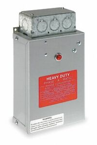 Phase a matic 1 3 Hp Phase Converter 208 242v Static Pam 300hd 1 Each