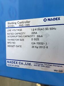 Nadex Phs 1005 Welding Controller 12a 70032 1 Shipping Available